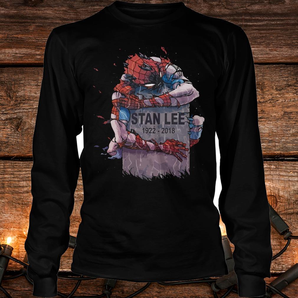 Original Spider Man hug Stan Lee Shirt Longsleeve Tee Unisex