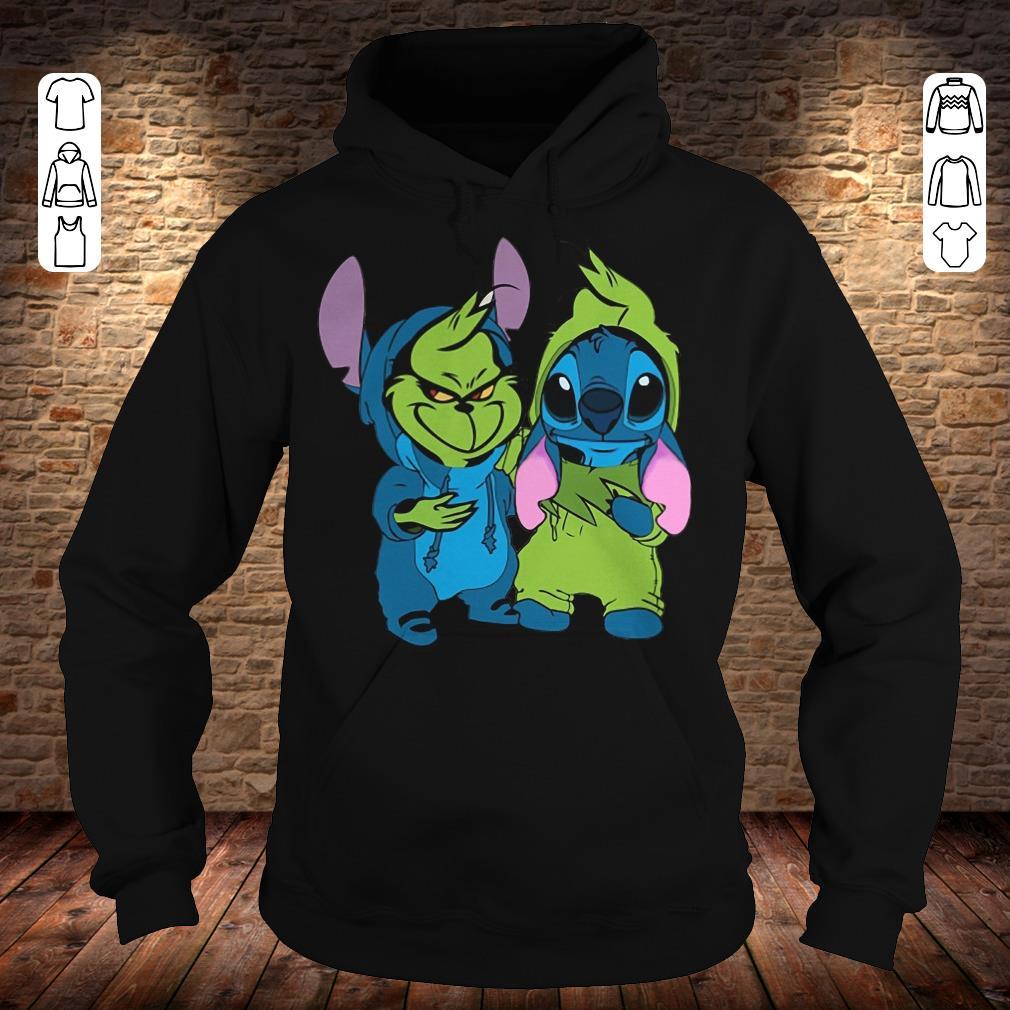 Premium Grinch and Stitch shirt sweater Hoodie