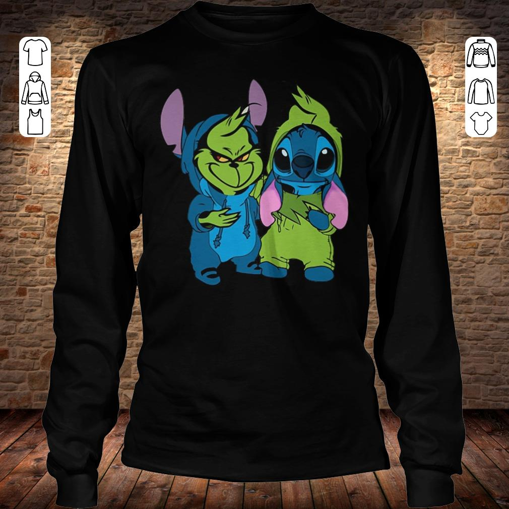 Premium Grinch and Stitch shirt sweater Longsleeve Tee Unisex