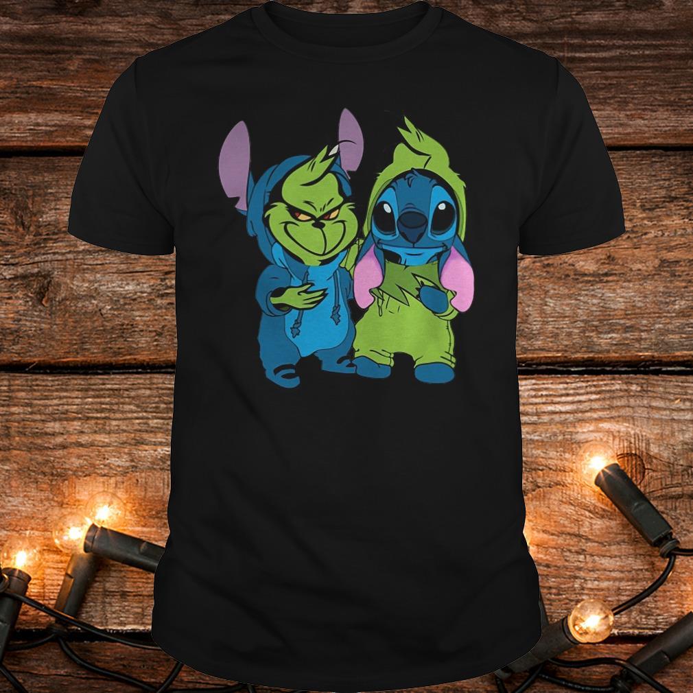 Premium Stitch and Grinch shirt