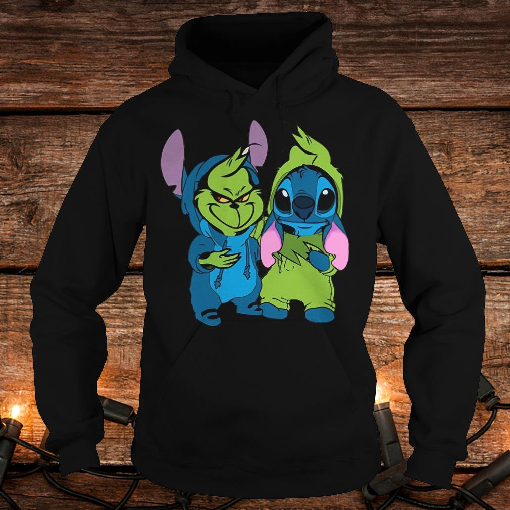 Premium Stitch and Grinch shirt Hoodie