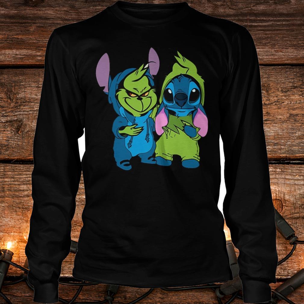Premium Stitch and Grinch shirt Longsleeve Tee Unisex