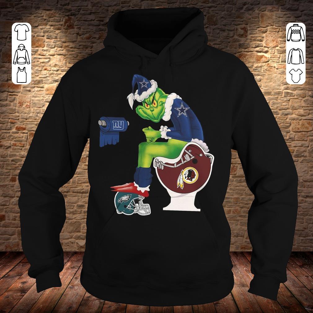 Pretty Dallas Cowboys Grinch Santa Washington Redskins Toilet shirt hoodie Hoodie