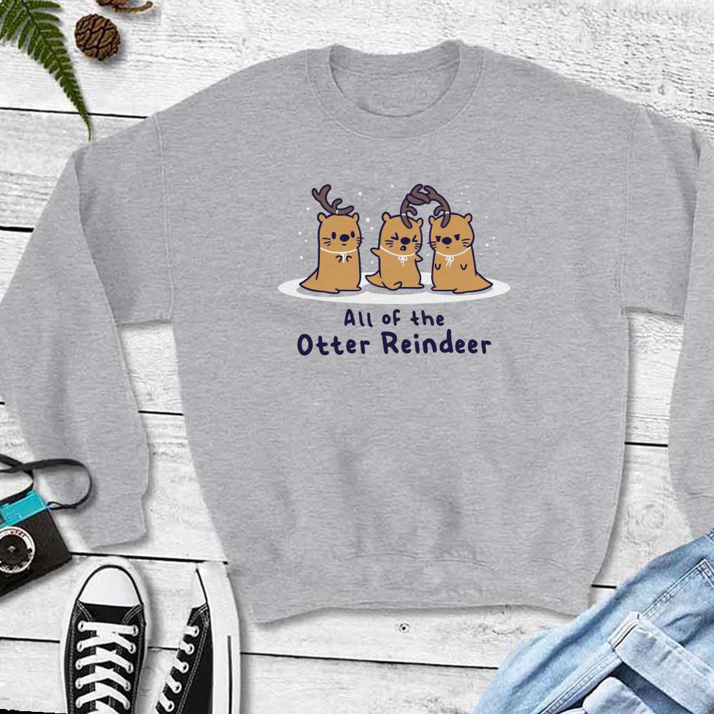 The best All of the otter reindeer shirt