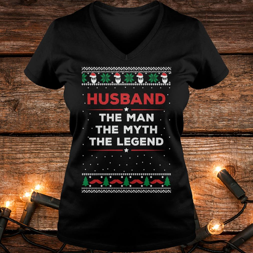 Top Husband The Man The Myth The Legend Sweater Shirt Ladies V-Neck
