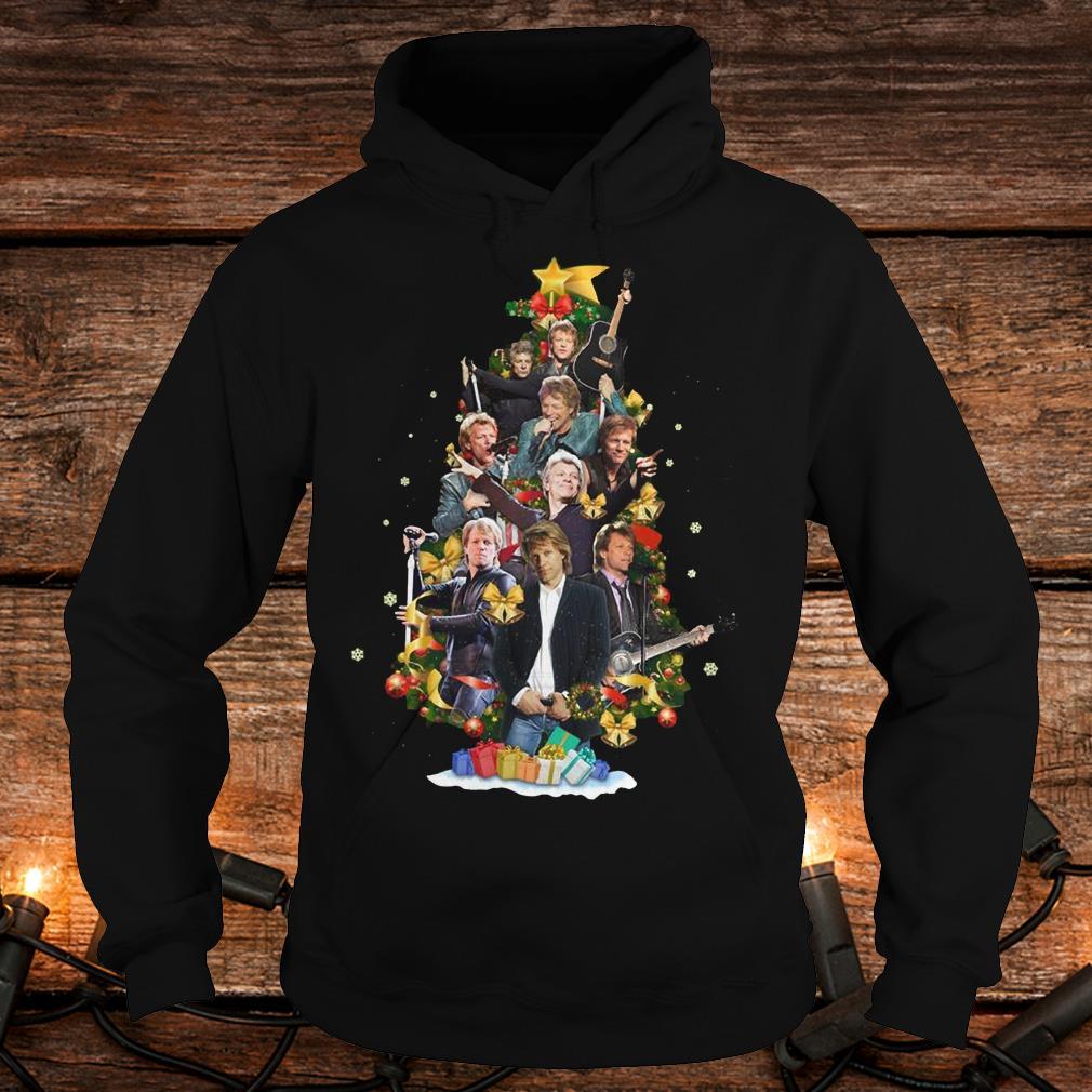 Top Jon Bon Jovi Christmas Tree shirt Hoodie