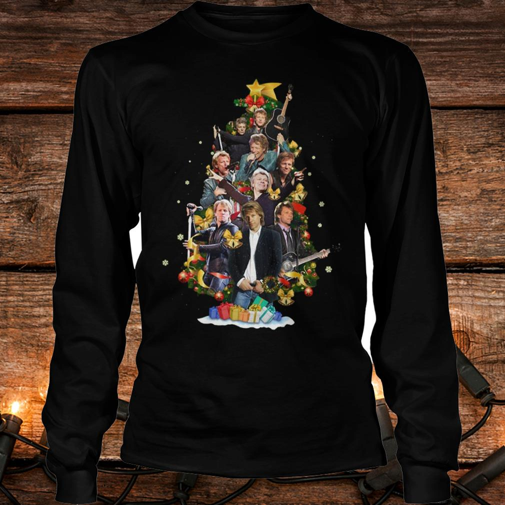 Top Jon Bon Jovi Christmas Tree shirt Longsleeve Tee Unisex