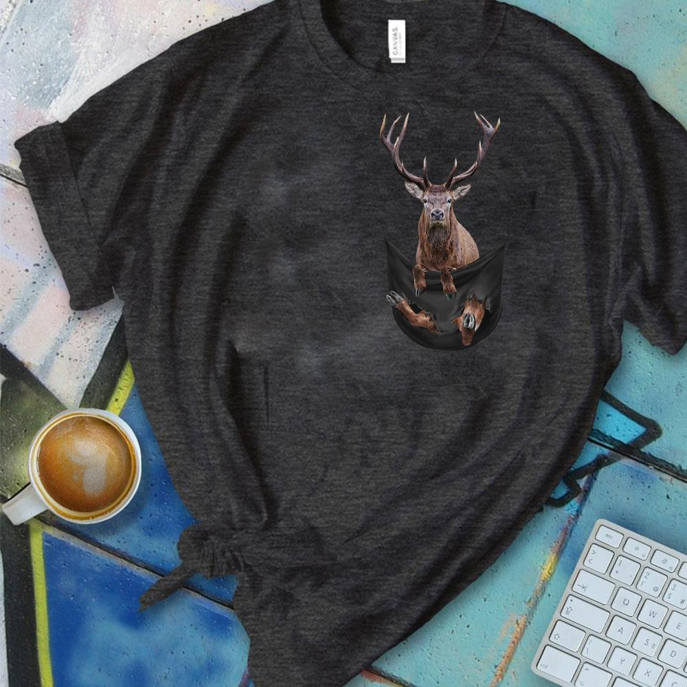 Nice Reindeer in Pocket shirt