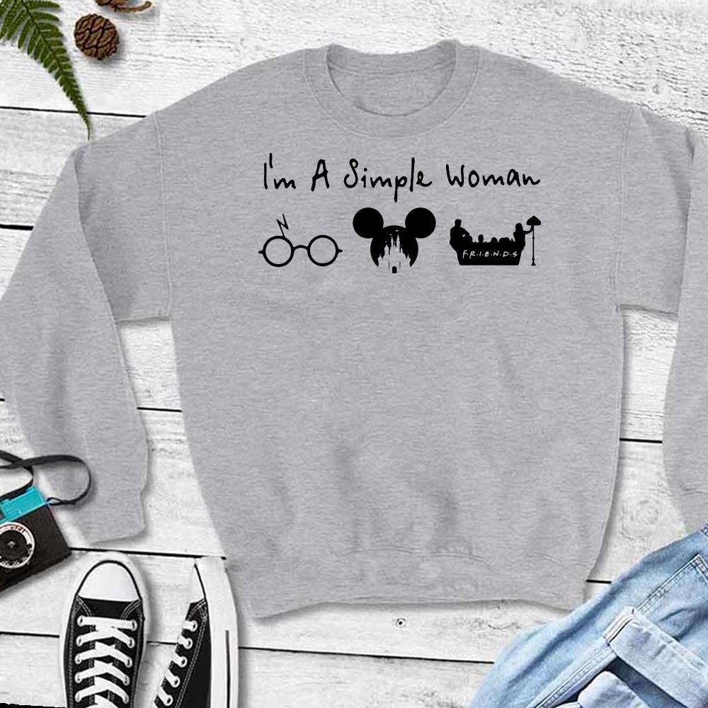 Top Harry Potter, Disney Mickey Mouse and Friends I'm a simple woman I like shirt