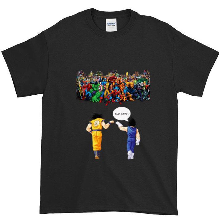 Dragon ball z Son goku Vegeta End Game Z Avengers Endgame shirt