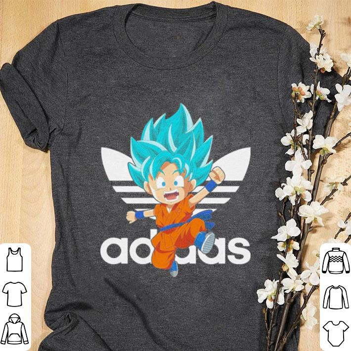 exclusive deals discount many styles Funny Son Goku Dragon Ball Super Saiyan Blue Adidas shirt ...