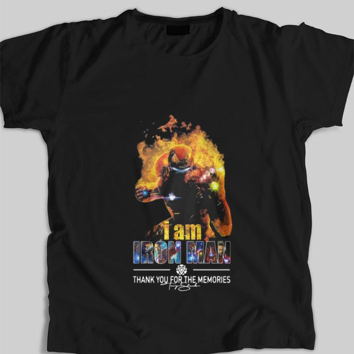 Hot I Am Iron Man Thank You For The Memories Avengers Endgame shirt