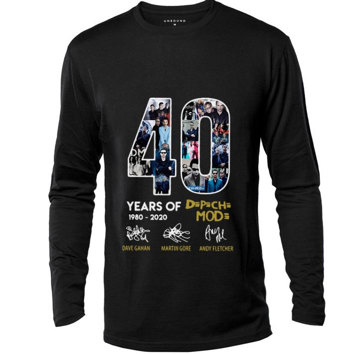 Official 40 years of 1980-2020 Depeche Mode signatures shirt
