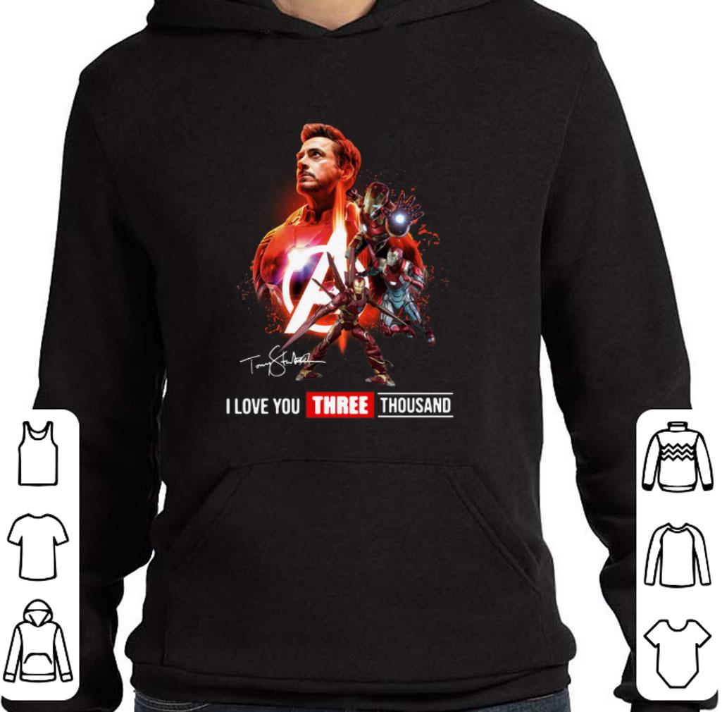 Official Avengers Iron Man Tony Stark I love you three thousand signature shirt