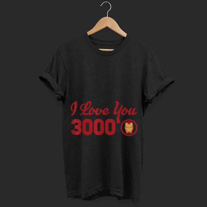 Top  Marvel Avengers Endgame Iron Man Helmet I Love You 3000 Red Logo shirt