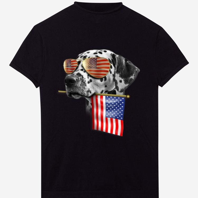 4th Of July Fun American Flag Dalmatian Dog Lover Gift shirt