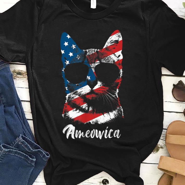 Ameowica Funny Cat Lover Patriotic 4th Of July Gifts Shirt 1 1.jpg