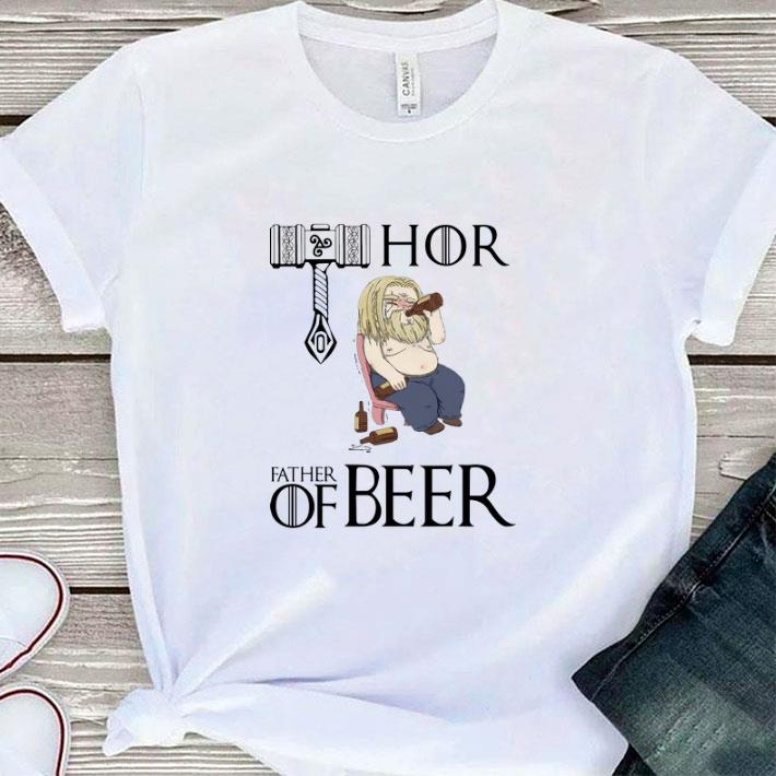 Awesome Avengers endgame fat Thor father of beer shirt
