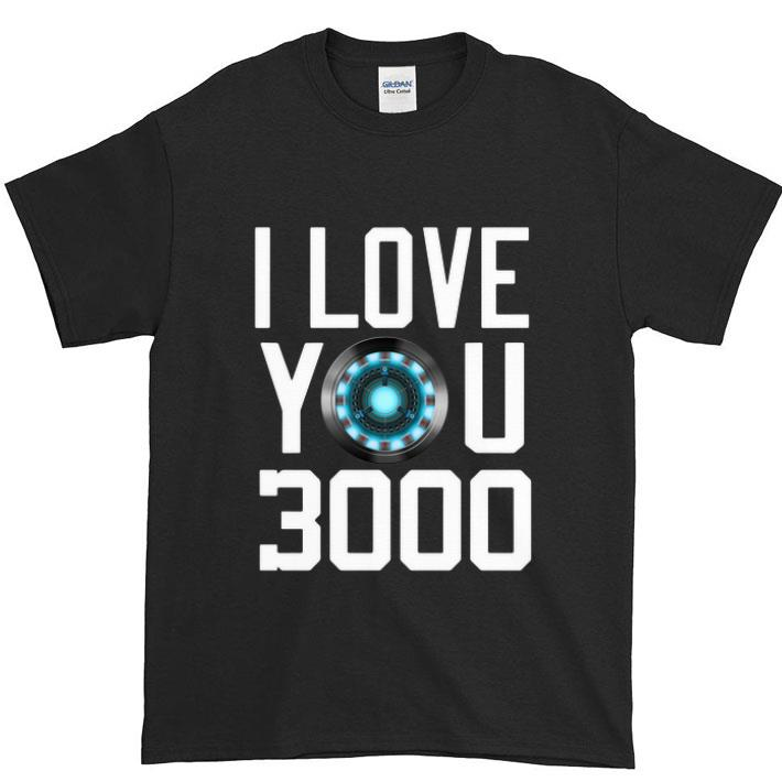Funny Heart I Love You 3000 Dad and Daughter Iron Man Arc reactor shirt
