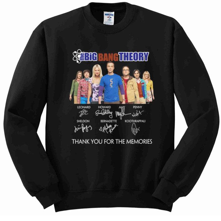 Funny The Big Bang Theory signatures thank you for the memories shirt