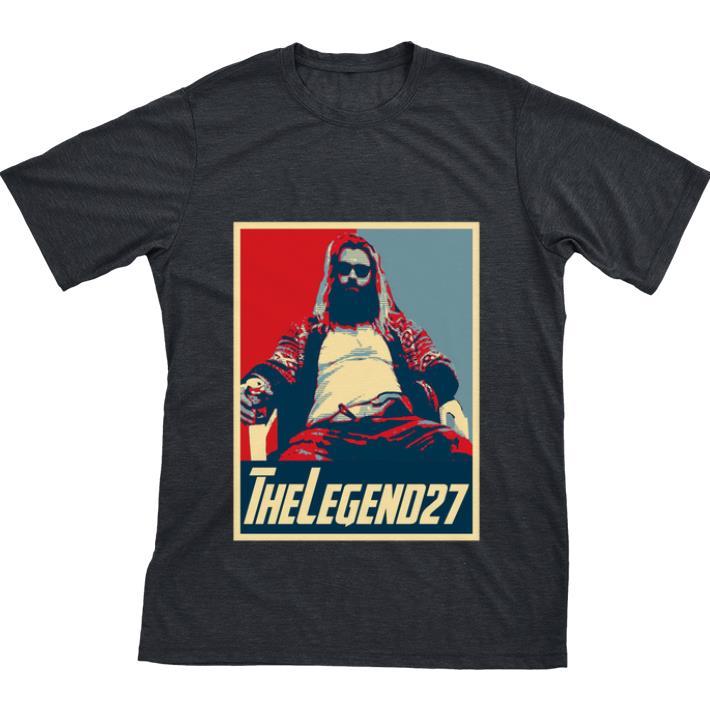 Funny Thor Fat The Legend 27 Avenger Endgame Vintage shirt