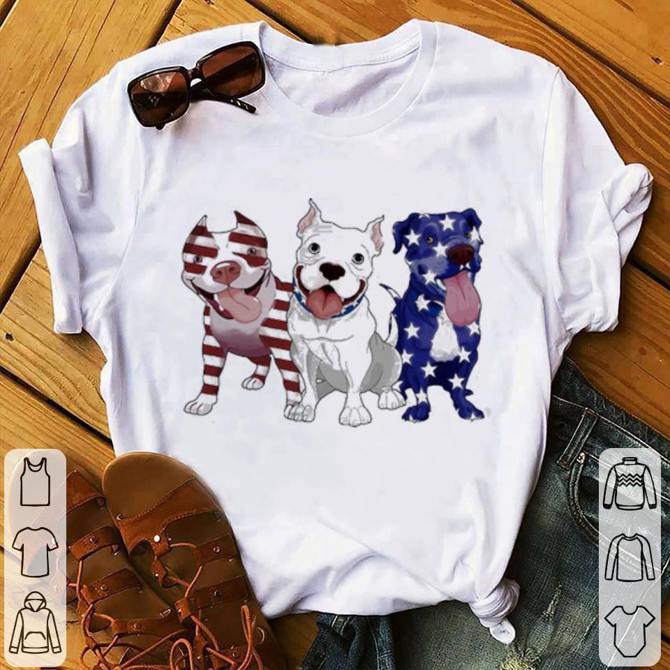 Hot I love Pitbulls america flag shirt