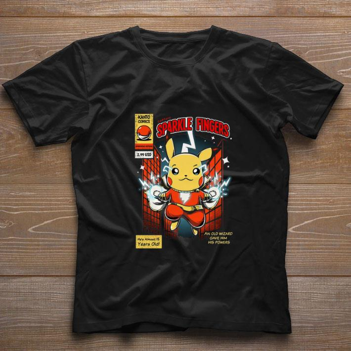 Official Pikachu Captain Sparkle Fingers Shazam shirt