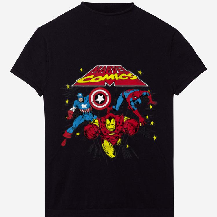 Original Marvel Captain America Spider-man Iron Man Retro Shirt