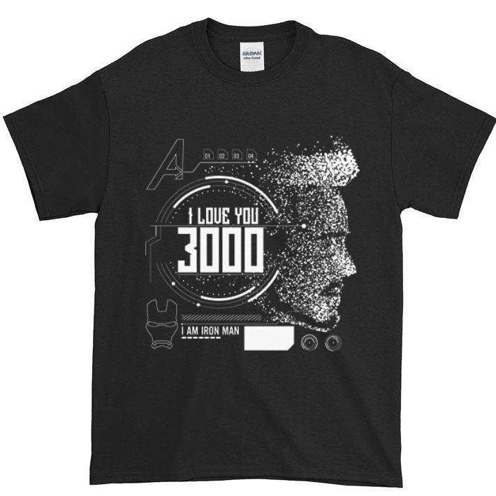 Top I love you 3000 I am Iron man Marvel shirt