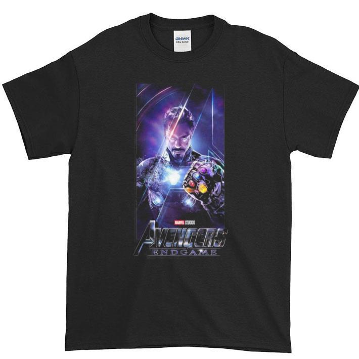 Top Marvel Avengers Endgame Iron Man Infinity Gauntlet shirt