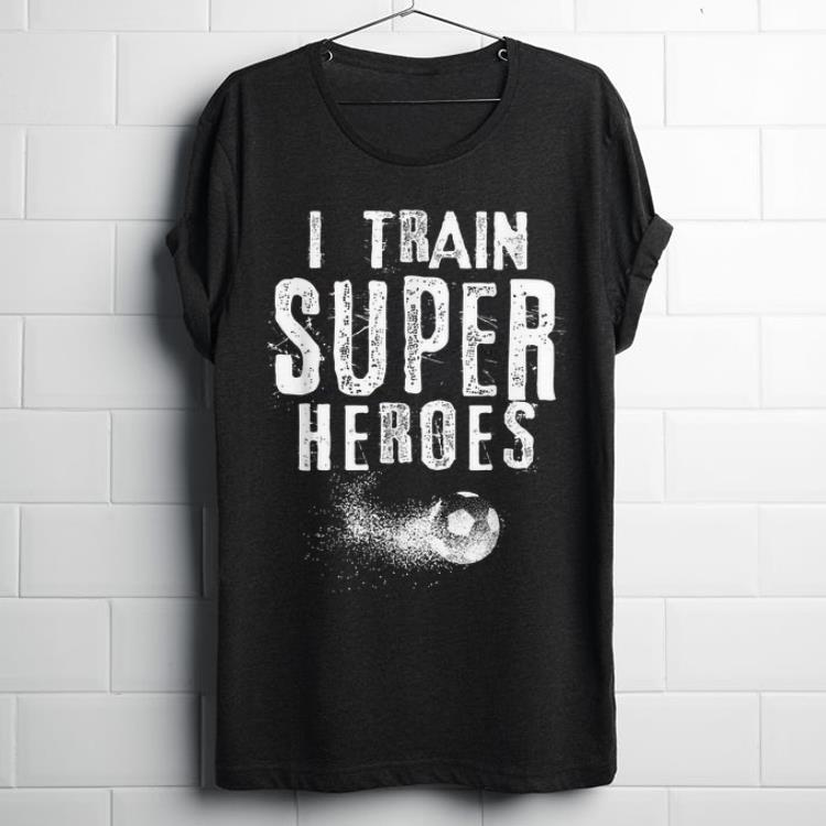 Awesome I Train Superheroes Soccer Coach shirt