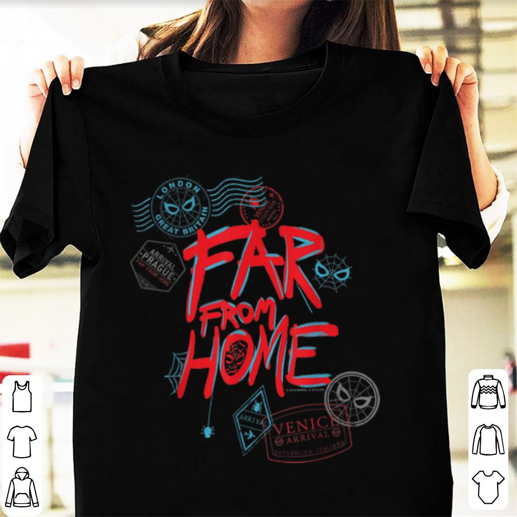 Awesome Marvel Spider Man Far From Home Passport Stamps Shirt 1 1.jpg