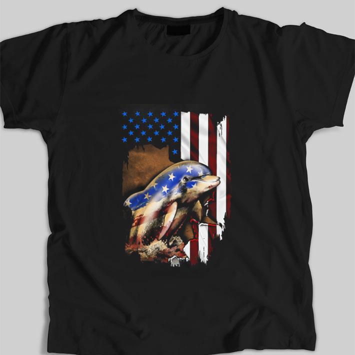 Funny Dolphin American Flag 4th Of July Shirt 1 1.jpg