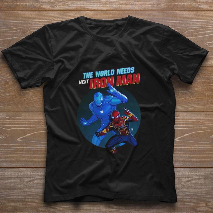 Funny Spider Man The World Needs Next Iron Man Marvel shirt