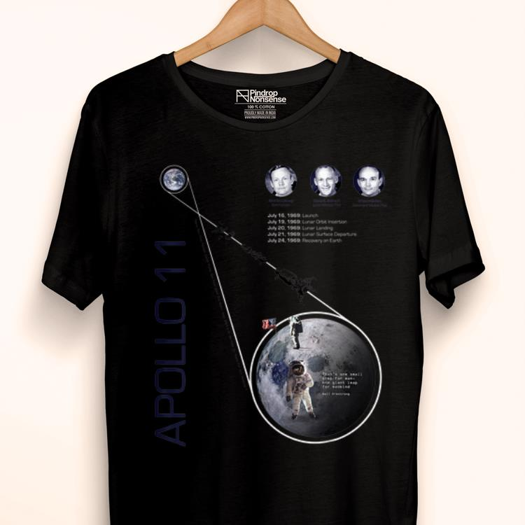 Hot Apollo 11 First Moon Landing 50 Years Anniversary Neil Armstrong shirt
