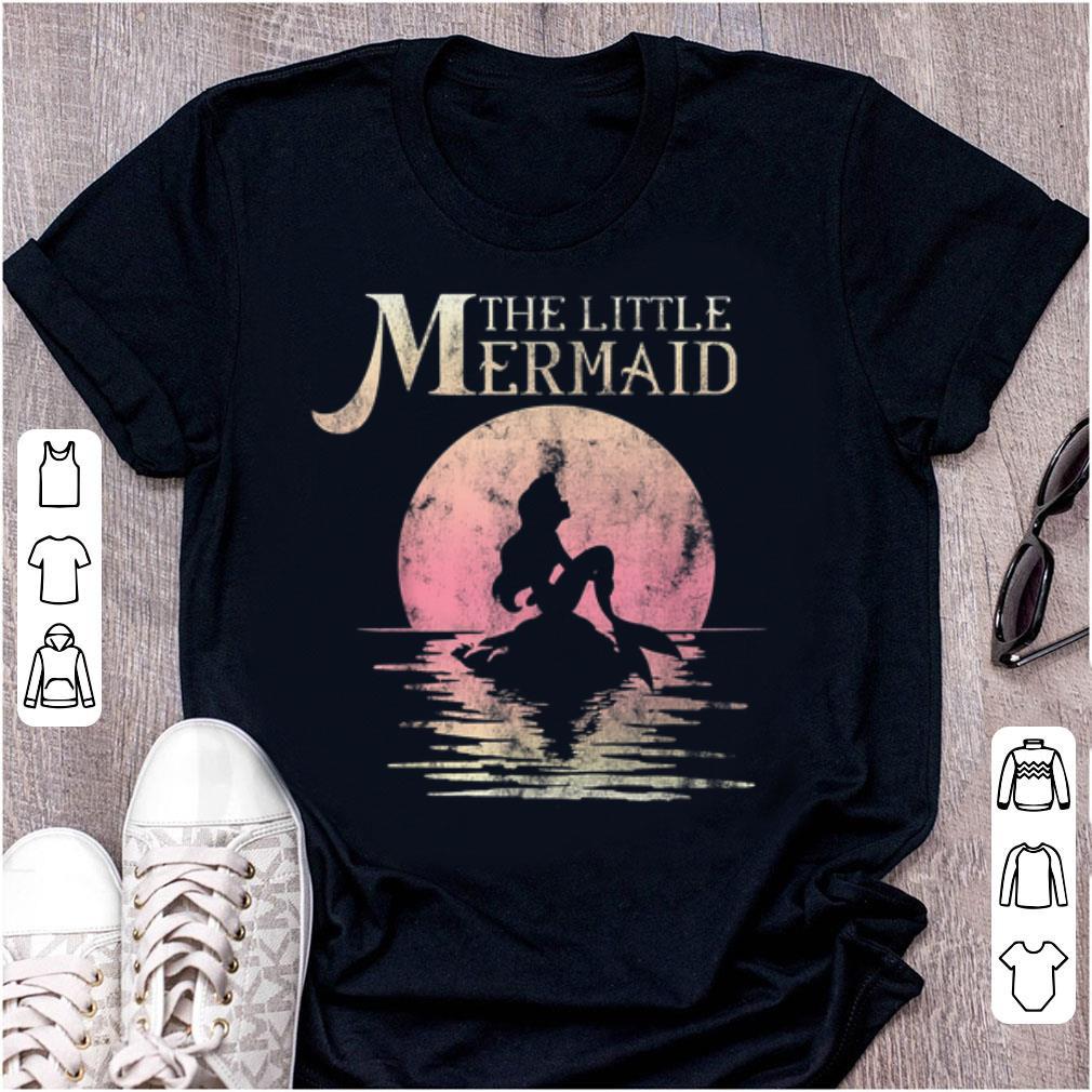 Hot Disney The Little Mermaid Ariel Rock Moon Silhouette
