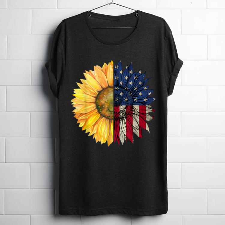 Hot Independence Day Sunflower American USA Flag 4th Of July shirt