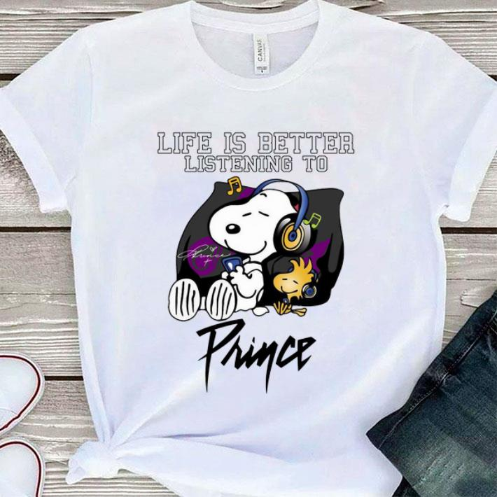 Hot Snoopy life is better listening to Prince Rogers Nelson shirt