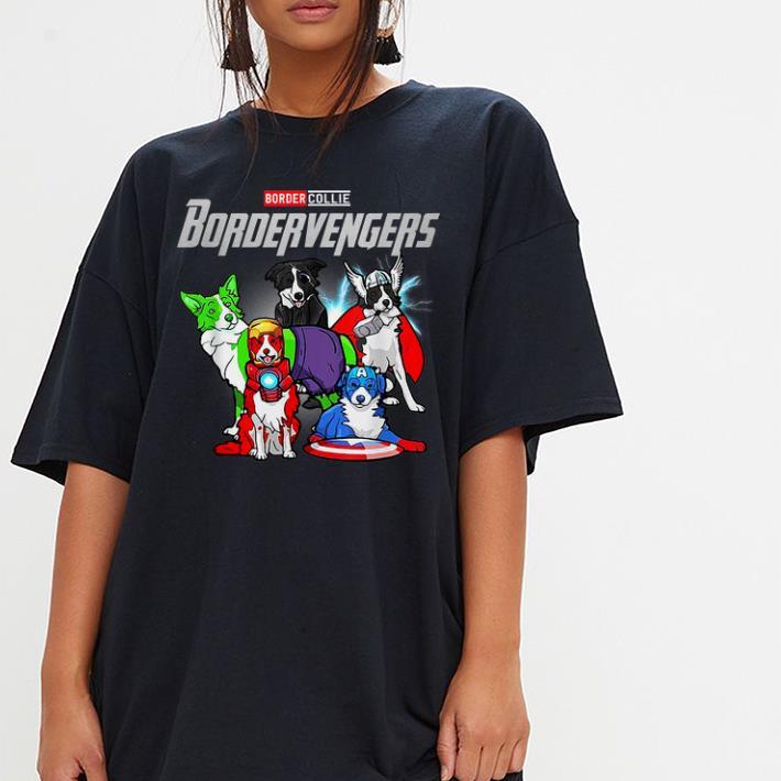 Official Bordervengers Border Collie And Avengers Dog Lover Marvel Dog shirt