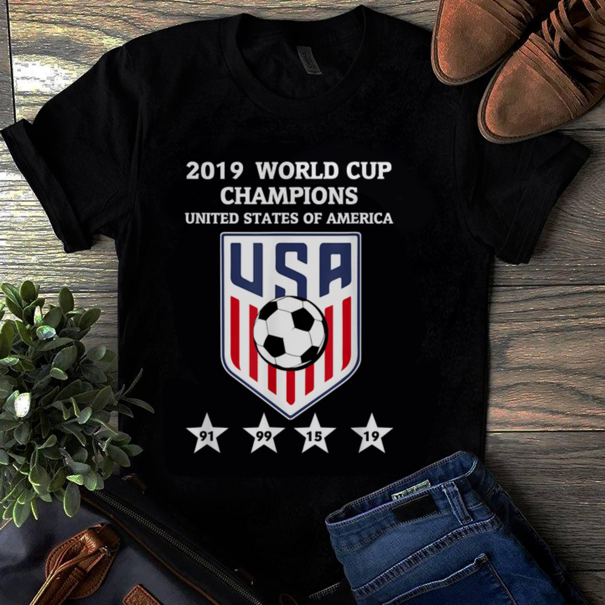 Officical 2019 World Cup Champions United States Of America Women Soccer shirt