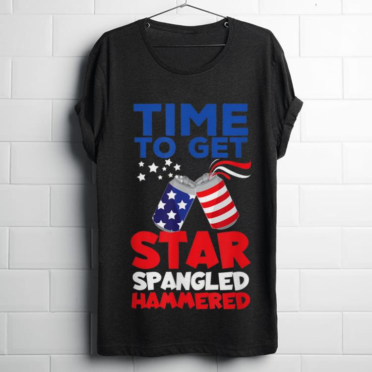 Premium America Beer Cans Time To Get Star Spangled Hammered shirt