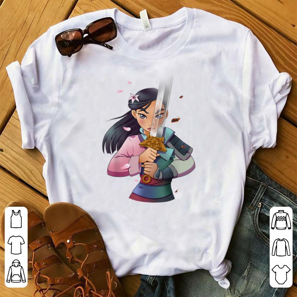 Premium Disney Mulan Anime Half Girl Half Warrior Shirt 1 1.jpg