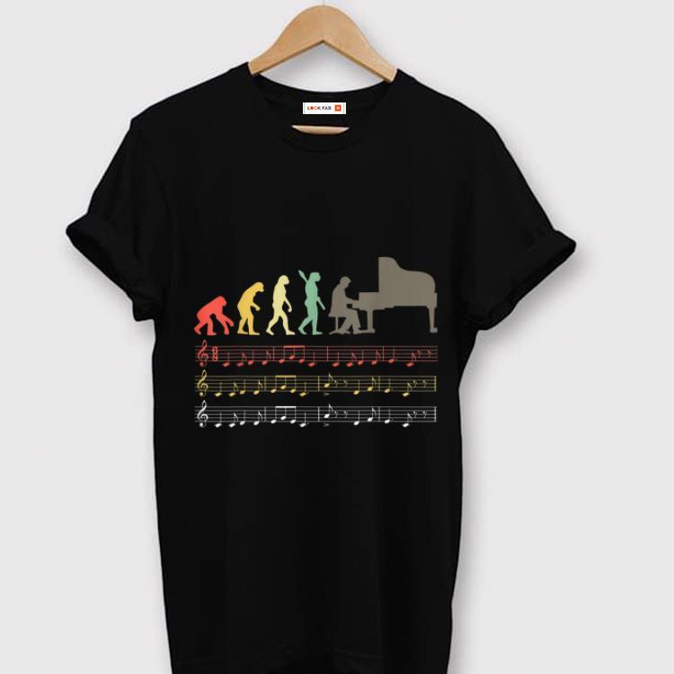 Premium Retro Vintage Piano Evolution Of Man shirt