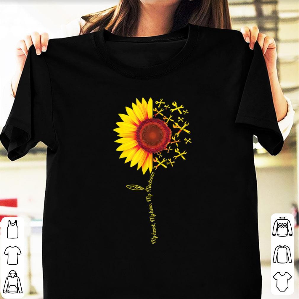 Awesome My Heart My Hero My Mechanic Sunflower Shirt 1 1.jpg