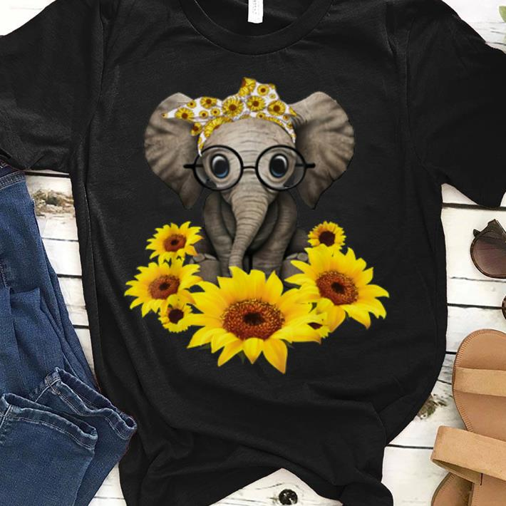 Awesome Sunflower Headband Elephant shirt