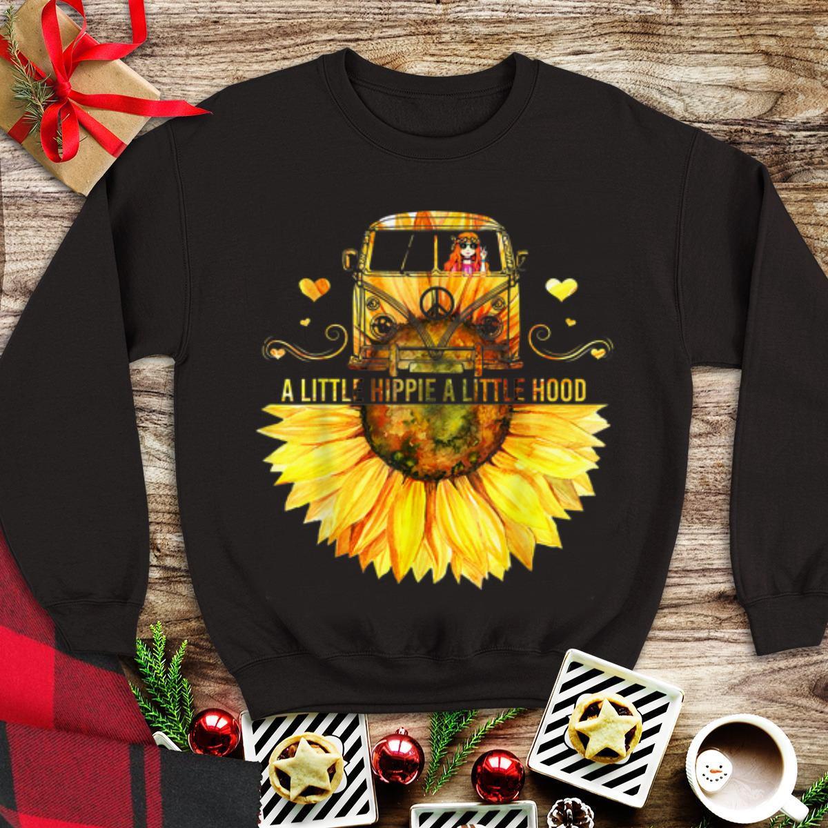 Awesome Sunflower Peace Bus A Little Hippie A Little Hood Shirt 1 1.jpg