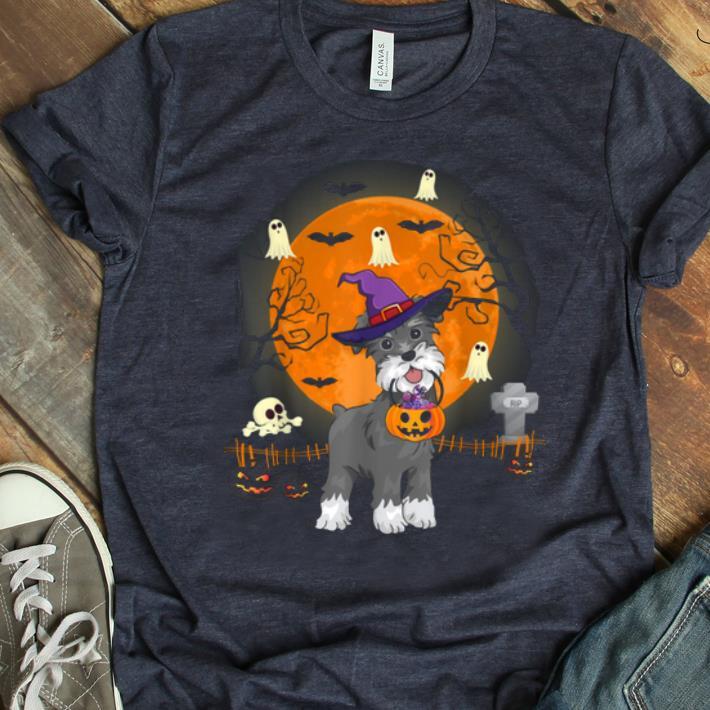 Beautiful Schnauzer Dog Witch Halloween Pumpkin Halloween Gifts Shirt 1 1.jpg