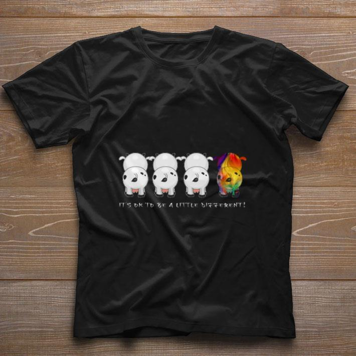 Funny Cows It's ok to be a little different Heifer Autism Awareness shirt