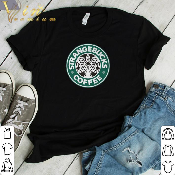 Funny Demogorgon Strangebucks coffee Stranger Things shirt