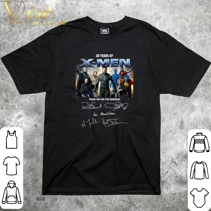Hot 20 years of X-Men thank you for the memories signatures shirt
